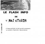 une flash info